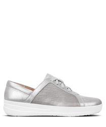 F-Sporty metallic silver sneakers