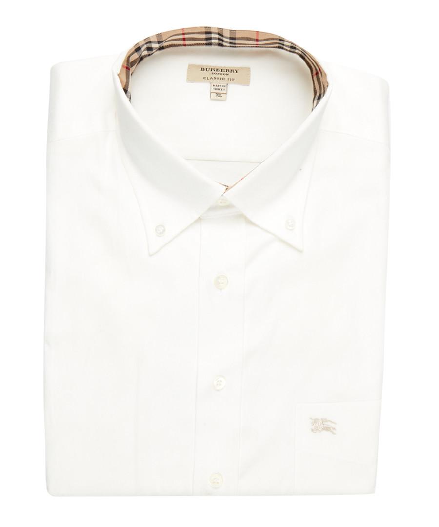 men's white pure cotton shirt Sale - burberry