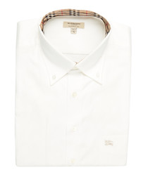 men's white pure cotton shirt