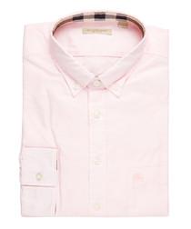 men's pale pink pure cotton shirt