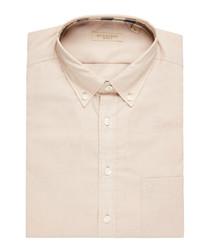 men's pale beige pure cotton shirt