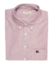 men's claret pure cotton shirt