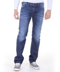 Safado mid wash cotton straight jeans