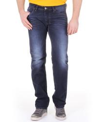 Larkee dark wash cotton straight jeans
