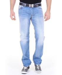 Larkee light wash cotton straight jeans