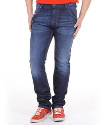 Krooley dark wash cotton straight jeans