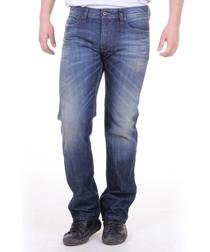 Waykee mid wash cotton straight jeans