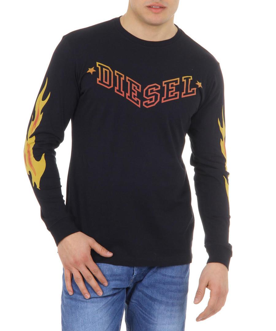 T-Priya Black pure cotton jumper Sale - diesel