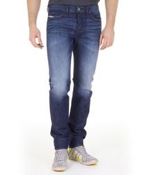 Buster dark wash cotton straight jeans
