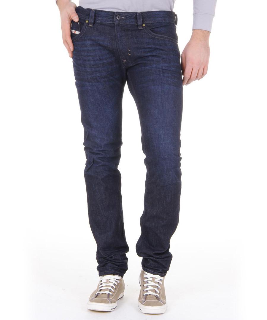 Thavar-Zip dark blue pure cotton Jeans Sale - diesel