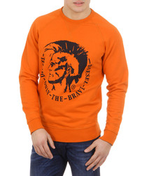 S-Orestes Orange pure cotton jumper
