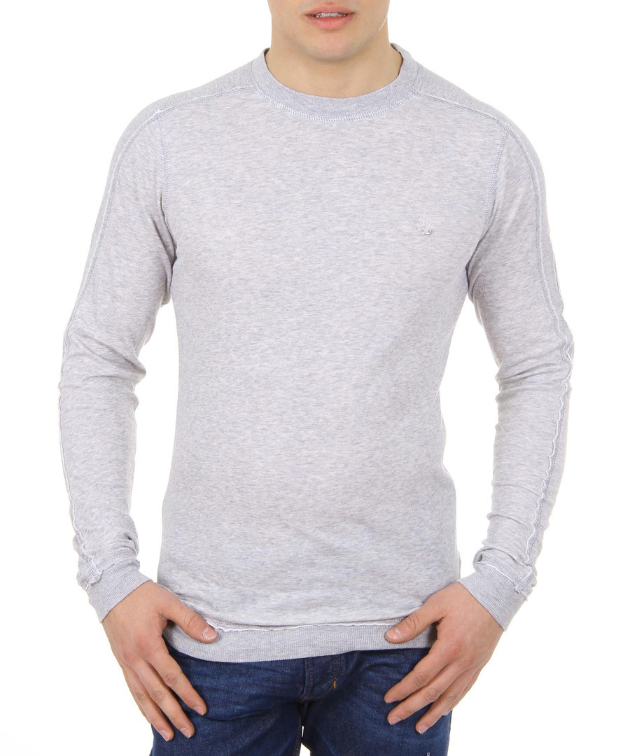 S-Eleut Grey pure cotton jumper Sale - diesel