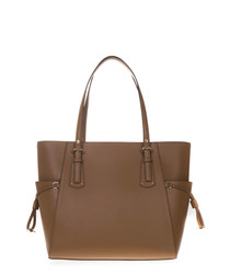 voyager acorn leather tote