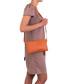 Orange moc-croc leather crossbody Sale - anna morellini Sale