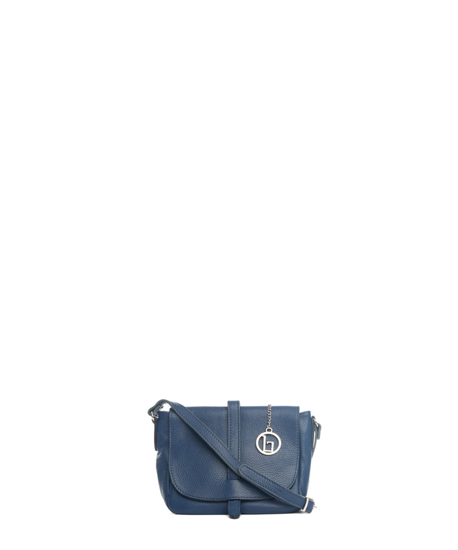 Blue leather crossbody Sale - lia biassoni