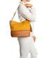 Yellow & cognac leather shoulder bag Sale - lia biassoni Sale