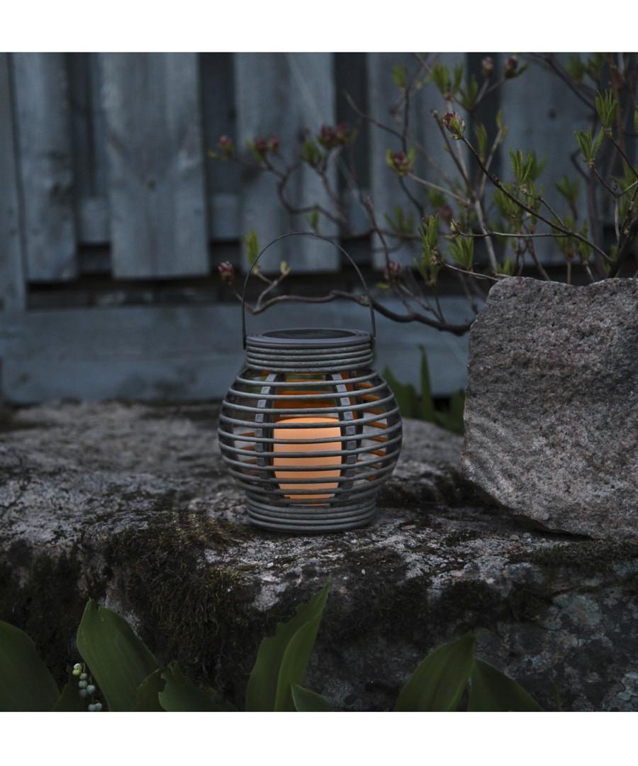 Grey basket solar lantern Sale - solar lighting
