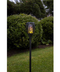 fretwork flicker solar lamp 57cm