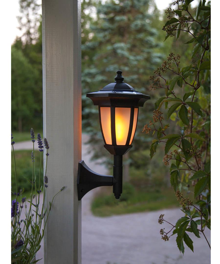 flame-effect solar lantern 63cm Sale - solar lighting