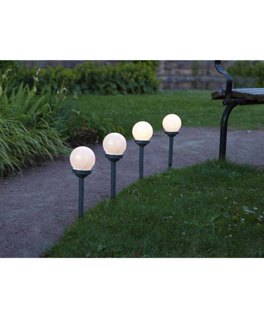 4pc Globus solar path lights 27cm Sale - solar lighting