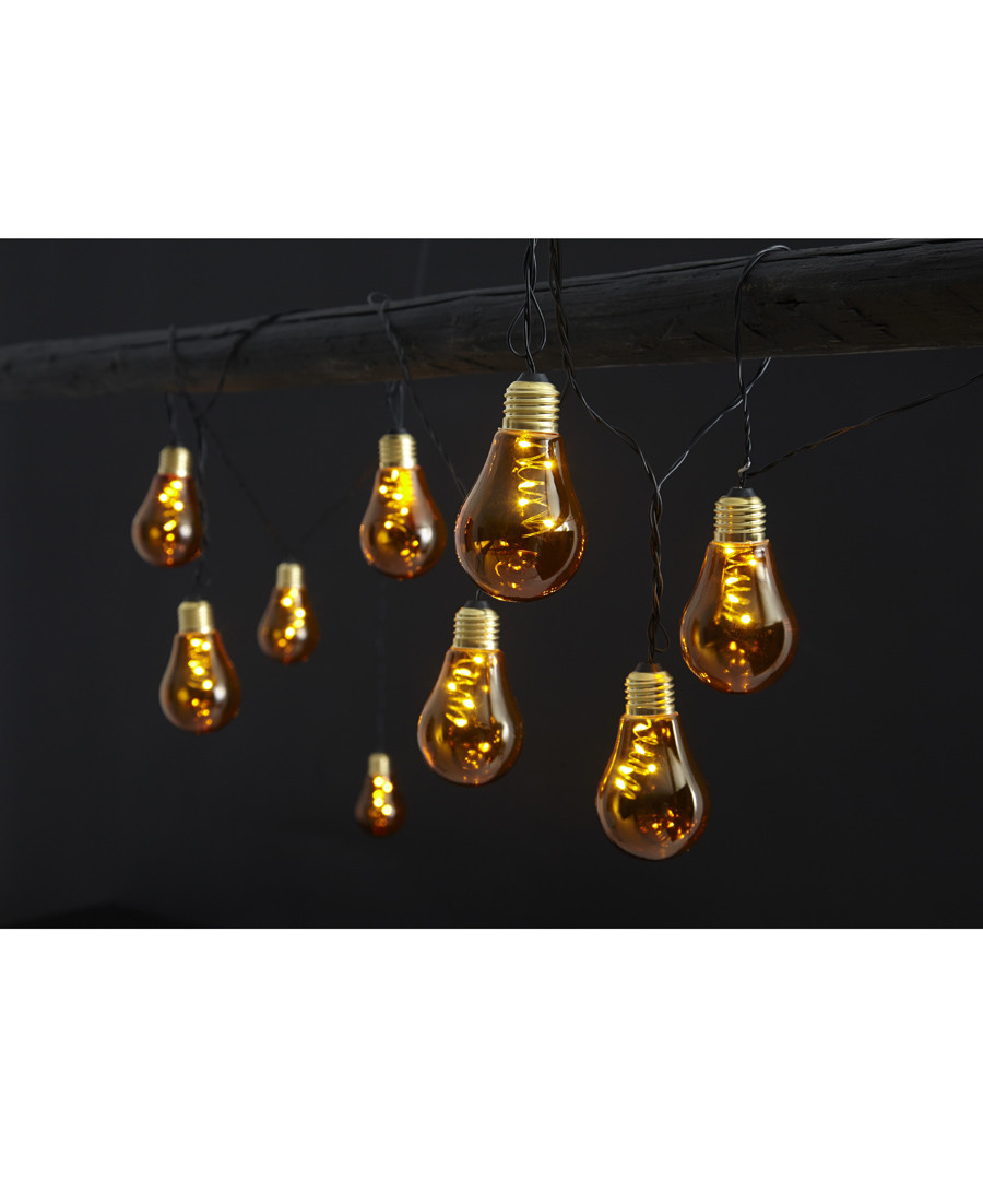 Bulb amber LED chain 3.6m Sale - solar lighting