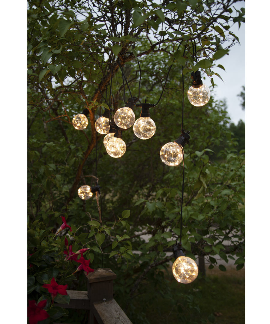 LED bauble chain 4.5m Sale - solar lighting