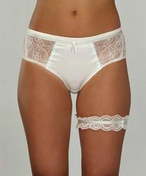 2pc Aphrodite ivory & mint bridal set