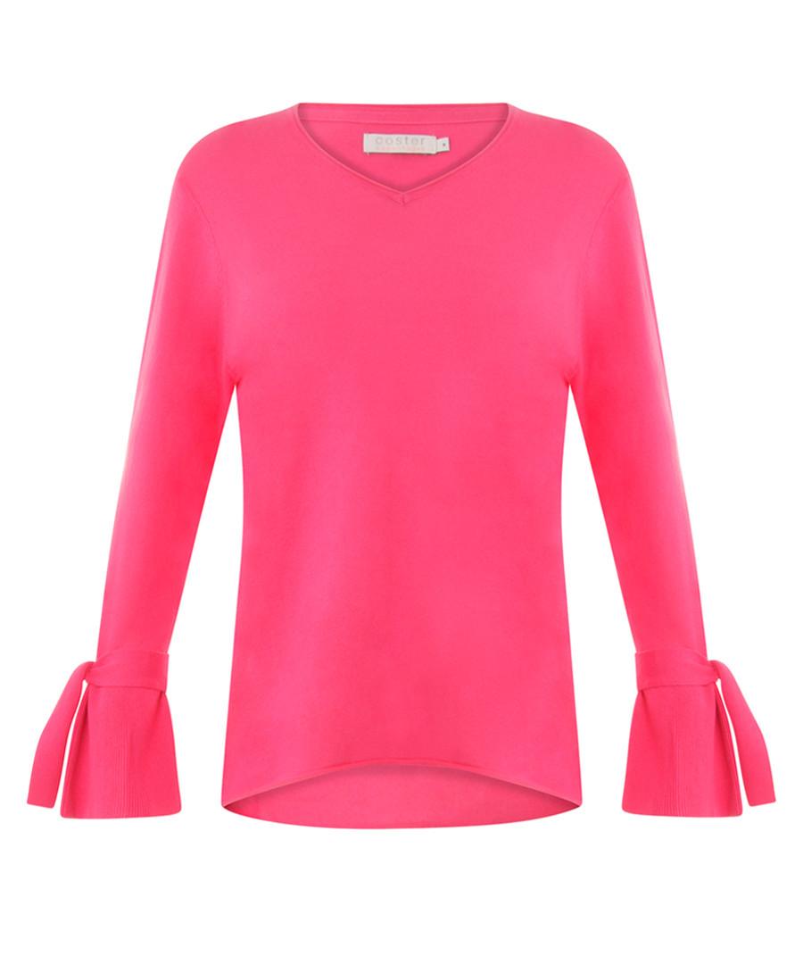 Hot pink pure cotton bell sleeve top Sale - coster copenhagen