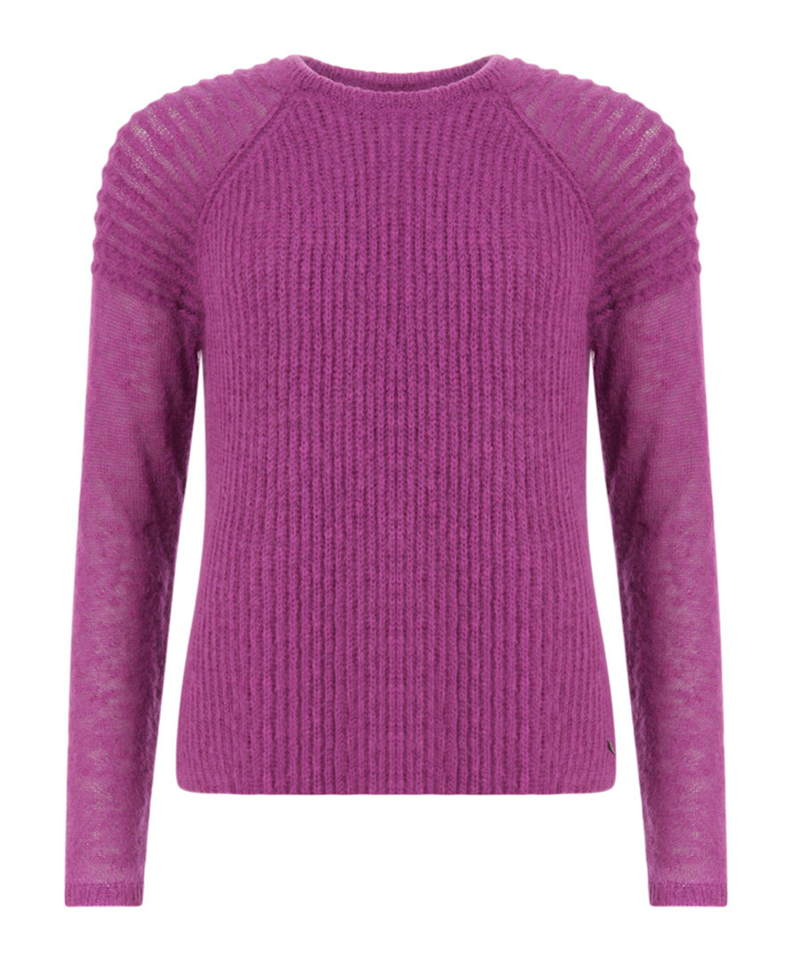 Pink lilac mohair blend ribbed jumper Sale - coster copenhagen