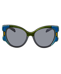 Olive & marine cateye sunglasses