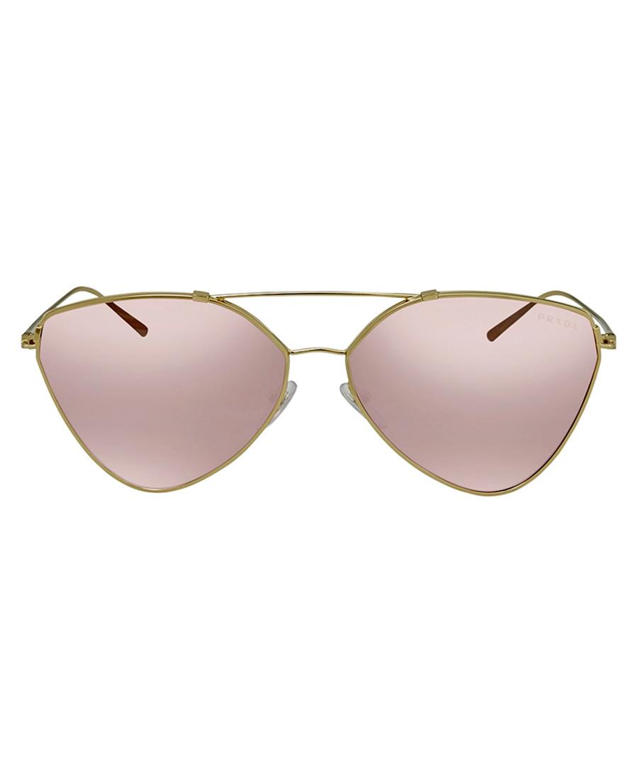 violet mirror triangle pilot sunglasses Sale - prada