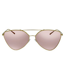 violet mirror triangle pilot sunglasses