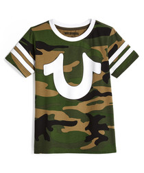 Varsity camo pure cotton T-shirt
