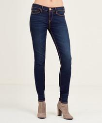 Halle dark blue cotton skinny jeans