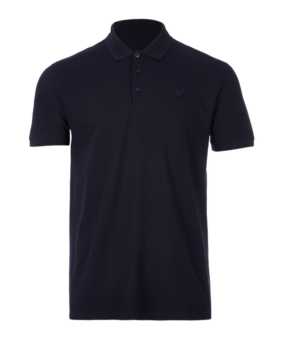 Blue pure cotton polo shirt Sale - versace collection