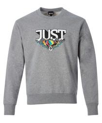 Grey logo graphic sweatshirt