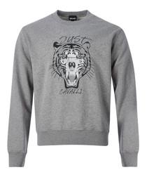 Grey tiger print sweatshirt