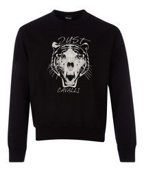 Black tiger print sweatshirt