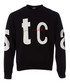 Black typography print sweatshirt Sale - JUST CAVALLI Sale