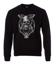 Black skull printed sweatshirt
