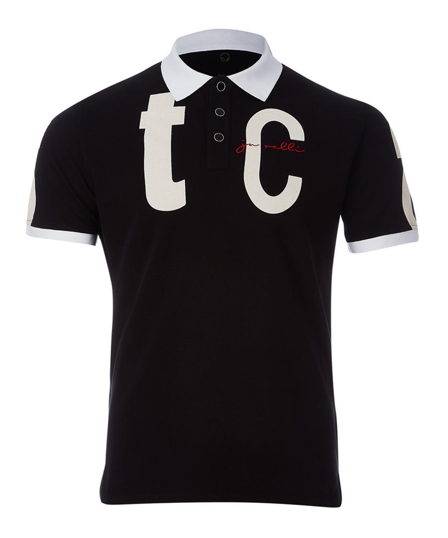 Black polo shirt Sale - just cavalli