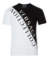 White & black logo contrast T-shirt Sale - versace collection Sale
