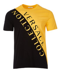 Yellow & black logo contrast T-shirt