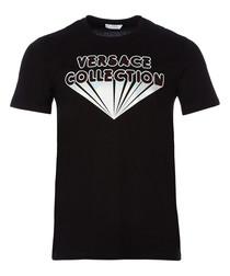 Black logo graphic T-shirt