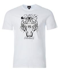 White tiger print T-shirt