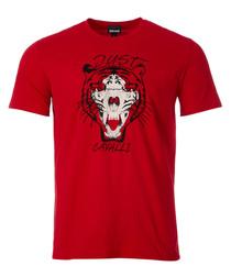Red tiger print T-shirt