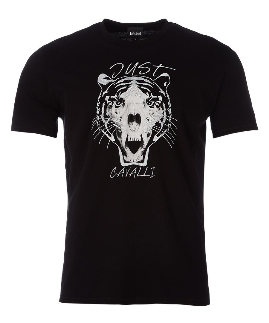 Black tiger print T-shirt Sale - just cavalli