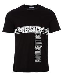 Black label logo graphic T-shirt