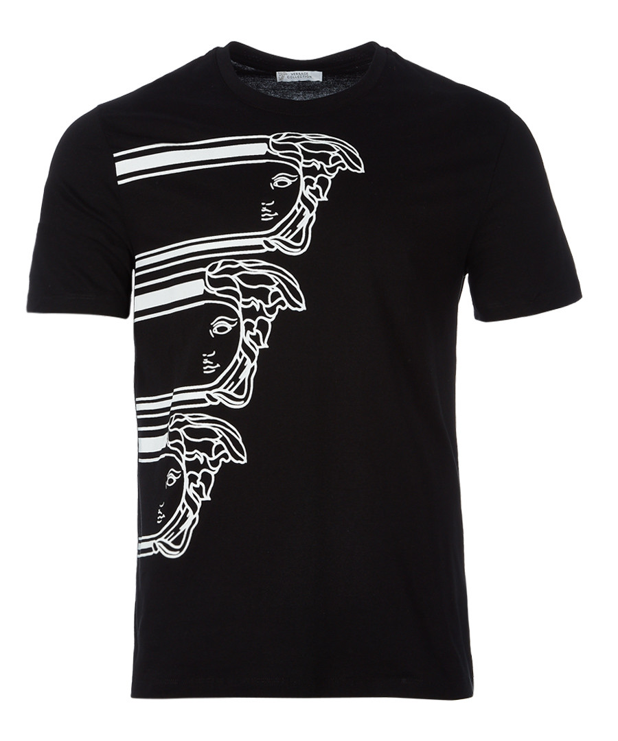 Black graphic T-shirt Sale - versace collection