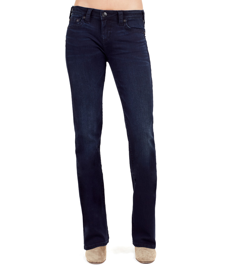 Becca dark blue mid-rise bootcut jeans Sale - true religion